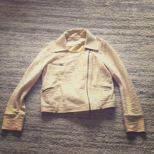 Anthropologie cotton motorcycle jacket size M